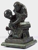 HugoRheinholdApeWithSkull.DarwinMonkey.2.jpg
