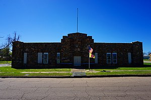 National Register of Historic Places listings in Choctaw County, Oklahoma - Image: Hugo March 2016 12 (Hugo Armory)