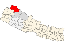 Location of Humla