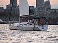 Hunter 33 2004 sailboat at sunset in Toronto Ontario.jpg