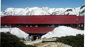 Mount Jōnen - Jōnen Hut and Mount Yari in spring