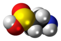 Hypotaurine molecule spacefill.png