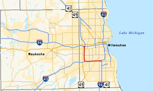 Interstate 894 - Image: I 894 map
