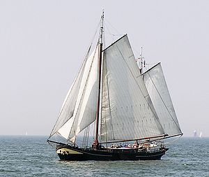 IJsselmeer - Traditional boat on the IJsselmeer