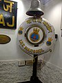 INS Mangrol rescue tube and bell, 1973 at Maritime Museum, Fort Kochi, Ernakulam, Kerala, India.JPG