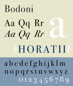 Бодони шрифт