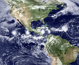 Intertropical Convergence Zone - Tropical cyclones over the West Atlantic, Central America and East Pacific (see also Hurricane)