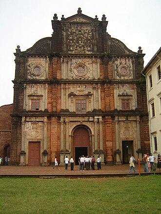 Architecture of Goan Catholics - Basilica of Bom Jesus, another example of Portuguese architecture