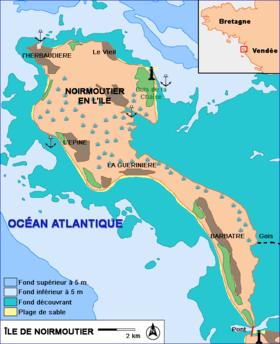 Carte de l'île de Noirmoutier