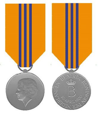Inauguration of the Dutch monarch - Commemoration medal for Queen Beatrix's inauguration in 1980