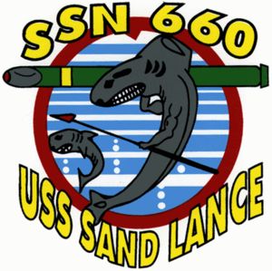 USS Sand Lance (SSN-660) - Image: Insignia of SSN 660 Sand Lance