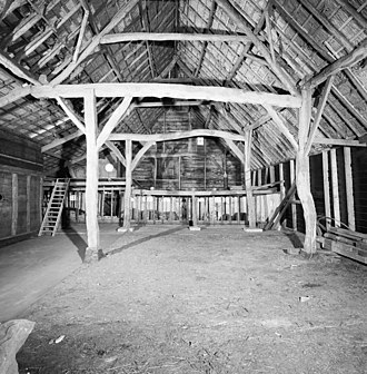 Bent (structural) - Image: Interieur schuur,overzicht kapconstructie Sprang Capelle 20347495 RCE