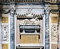 Interior of Chiesa dei Gesuiti (Venice) - left transept - Monument to the doge Pasquale Cicogna.jpg