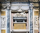 Interior of Chiesa dei Gesuiti (Venice) - left transept - Monument to the doge Pasquale Cicogna.jpg