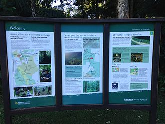 Eungella National Park - Interpretive signage helps visitors understand the ecology and features of Eungella National Park