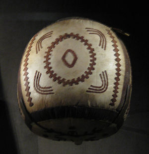 Iñupiat - Iñupiaq high-kick ball, ca. 1910, Barrow, Alaska, collection of the NMAI