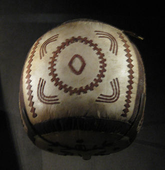 Iñupiat - Iñupiaq high-kick ball, ca. 1910, Utqiagvik, Alaska, collection of the NMAI
