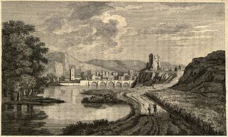 Inverness - Engraving of Inverness from A Tour in Scotland by Thomas Pennant, 1771.