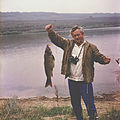 Ion Chibzii with a fish (80-ies).jpg