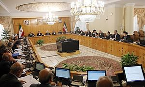 Cabinet of Iran - President Rouhani chairs a cabinet meeting, 1 October 2015