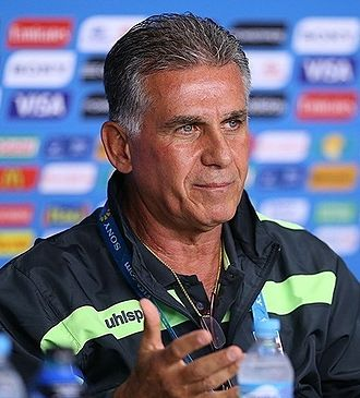 Carlos Queiroz - Queiroz during a press conference prior to Iran's 2014 World Cup group stage match against Nigeria in June 2014