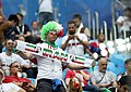 Iranian supporters in match against Morocco, 2018 FIFA World Cup 1.jpg