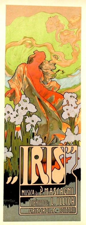 Iris (opera) - Poster by Casa Ricordi, 1898