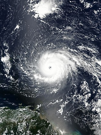 Cape Verde hurricane - Hurricane Irma became the most powerful Atlantic hurricane ever recorded outside of the Caribbean Sea or Gulf of Mexico.