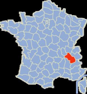 Communes of the Isère department - Image: Isère Position
