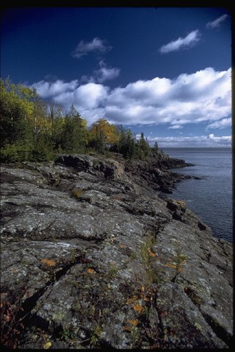Isle Royale National Park - Rocky shoreline