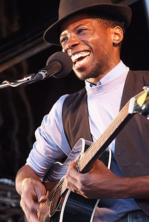 John Adeleye - Soul singer J'Nay (John Adeleye) performing at the Dalston Festival Vortex in 2008