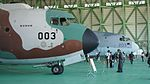 JASDF C-1(38-1003) & C-2(68-1203) forward fuselage section right front view at Miho Air Base May 28, 2017.jpg