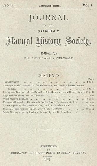 Journal of the Bombay Natural History Society - Image: JBNHS v 1 n 1A