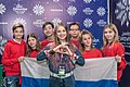 JESC 2018 partisipants. Anna Filipchuk with her team (Russia) (2).jpg