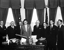 Stockdale with Kennedy and other ambassadors.