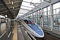 JRW 500 series Shinkansen at Okayama Station 2012-11-28.jpg