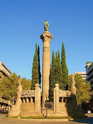 Jacint Verdaguer - Jacint Verdaguer monument on Plaça de Mossèn Jacint Verdaguer in Barcelona