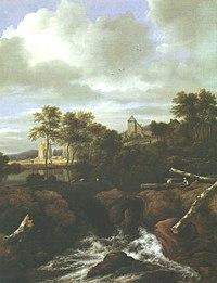Jacob van Ruisdael - Ruinenlandschaft mit Wasserfall.jpg