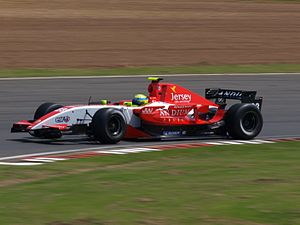 Fortec Motorsport - James Walker driving for Fortec at the Silverstone round of the 2008 World Series by Renault season.