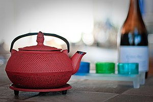 This Japanese tea pot is the center of our liv...