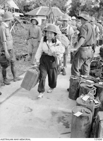 North Borneo - Japanese civilians and soldiers leaving North Borneo after the surrender of Japan.