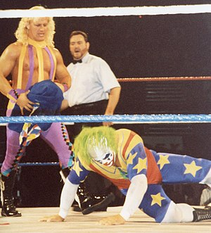 Jeff Jarrett - Jarrett wrestling Doink the Clown in the WWF in 1994.