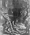 Jean-Guillaume Carlier, Martyre de Saint Denis de Paris, Saints Rustique et Eleuthère gisent décapités (Cabinet des estampes et des dessins, Musée des Beaux-Arts, Liège).jpg