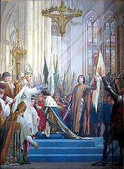 Sacre de Charles VII par Jules Eugène Lenepveu, 1886-1890, Panthéon de Paris.
