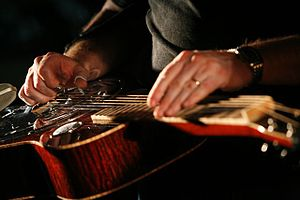 Jerry Douglas - Jerry Douglas playing one of his resonator guitars