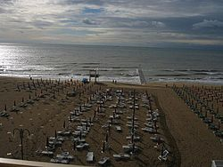 The beach o Jesolo.