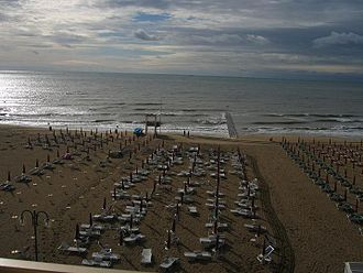 Jesolo - The beach of Jesolo.