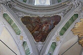 Philipp Hieronymus Brinckmann - Mural painting in the Jesuit Church, Mannheim.