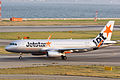 Jetstar Asia Airways, 3K722, Airbus A320-232, 9V-JSV, Departed to Singapore via Taipei, Kansai Airport (16574958604).jpg
