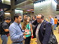 Jimmy Wales discussing with user in Barbican Centre.JPG